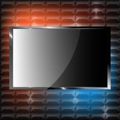 Plasma TV on the wall — Stock Photo