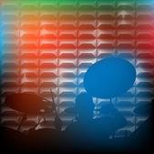 Barevné bubeník — Stock fotografie