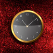 Modern Clock on the textured wall — Stock Photo