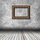 Empty interior with empty frame — Zdjęcie stockowe