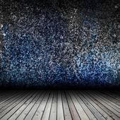 木製の床とグランジの壁と内部空 — ストック写真