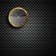 Modern Clock on the textured wall - Stock Photo