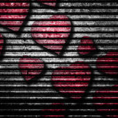 红色的心背景 — 图库照片