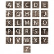 Unique alphabet set - Stock Photo