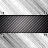Metallic plate with screws — Stock Photo
