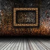 пустой интерьер с пустой рамкой — Стоковое фото