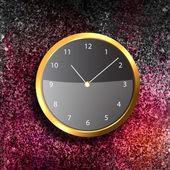 Moderno orologio sulla parete strutturata — Foto Stock