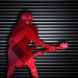 Abstract guitarist texture background — Stock Photo