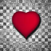 κόκκινη καρδιά φόντο — Φωτογραφία Αρχείου