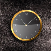 Modern Clock on the textured wall — 图库照片