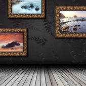 Vacío interior con piso de madera — Foto de Stock