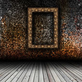 Empty interior with empty frame — Stock Photo