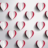 Fondo rojo corazón — Foto de Stock