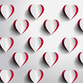 Red Heart Background — Stockfoto