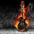 The burning guitar — Stock Photo