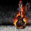 The burning guitar — Stock Photo #27914493