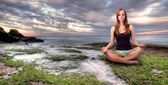 Girl meditation — Stock Photo