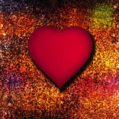 Kırmızı kalp arka plan — Stok fotoğraf
