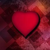 Rött hjärta bakgrund — Stockfoto