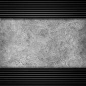 Plaque métallique avec vis — Photo