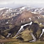 Virtuální prohlídka hory na Islandu, landmannalaugar — Stock fotografie