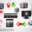 Database Icons — Stock Vector