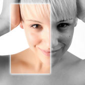 Example of beauty photo manipulation — Stock Photo