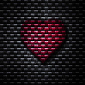 Red Heart Background — Zdjęcie stockowe