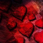 赤いハートの背景 — ストック写真