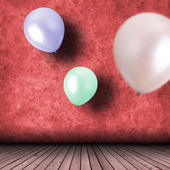 Fira med ballonger — Stockfoto