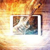 Elektrische gitaar - elektronische handelwebsite concept — Stockfoto