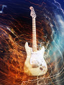 Electric guitar concept — Photo