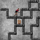 Labyrinth business concept — Stock Photo