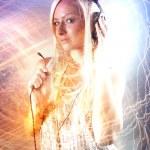 Girl with headphones — Stock Photo #40027075