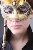 Elegant girl with a wonderful mask — Stock Photo