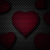Red Heart Background — 图库照片