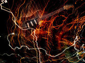 エレク トリック ギターの概念 — ストック写真