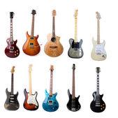Conjunto de guitarras eléctricas — Foto de Stock