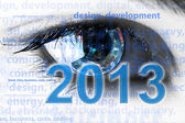 New 2013 year greeting concept — Stock Photo