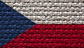 Reto national flag of the Czech Republic — Stock Photo