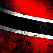 Aged textured Trinidad and Tobago national flag — Stock Photo