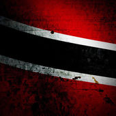 Aged textured Trinidad and Tobago national flag — Stockfoto