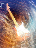 Electric guitar concept — Stock Photo