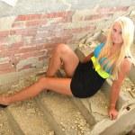 Beautiful Blond Girl Portrait.Blonde Hair. — Stock Photo #12148875