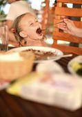 śniadanie dla dzieci — Zdjęcie stockowe