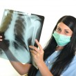 Stock Photo: Doctor with x-ray