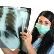 Doctor with x-ray - Stockfoto