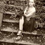 portrait de femme rétro — Photo #13504720