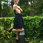 Retro woman portrait — Stock Photo