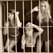 Women in prison. Retro portrait. — Stock Photo #13541145
